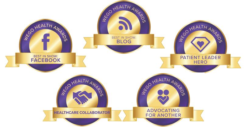 WEGO award nominee badges